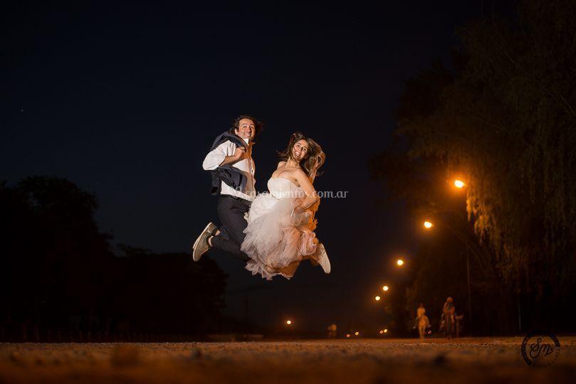 El salto del festejo