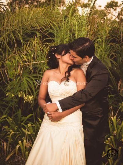 Romy y Emi después de la boda