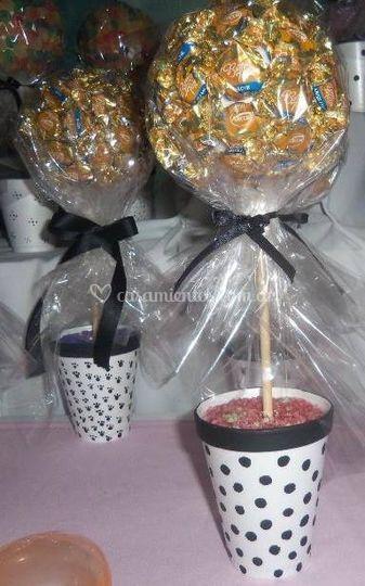 Topiarios de caramelos