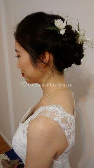 Maquillaje y peinado ceremonia