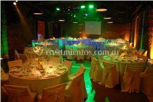 Efectos de iluminación en mesas