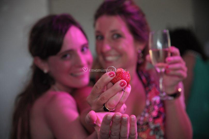 Torta y ramo de novia