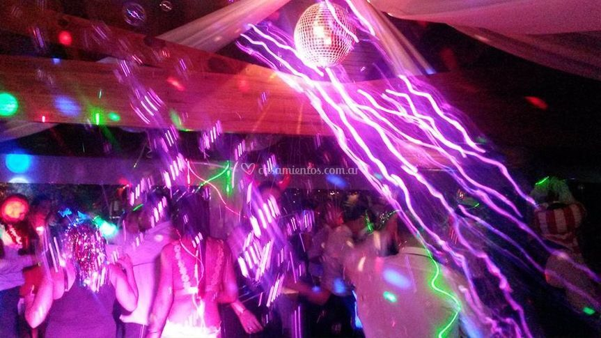 Iluminacion DJ nocturno