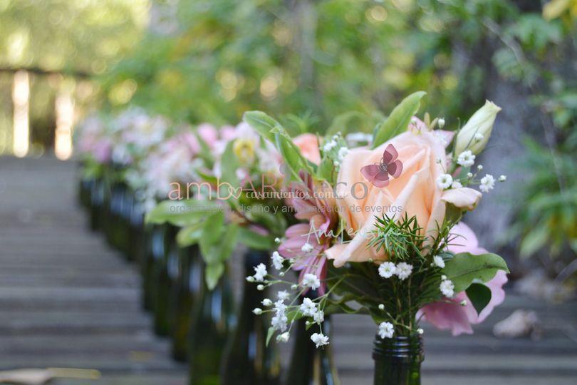 Ambientación y flores