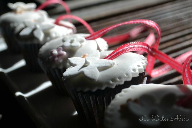 Cupcakes con dijes para tirar