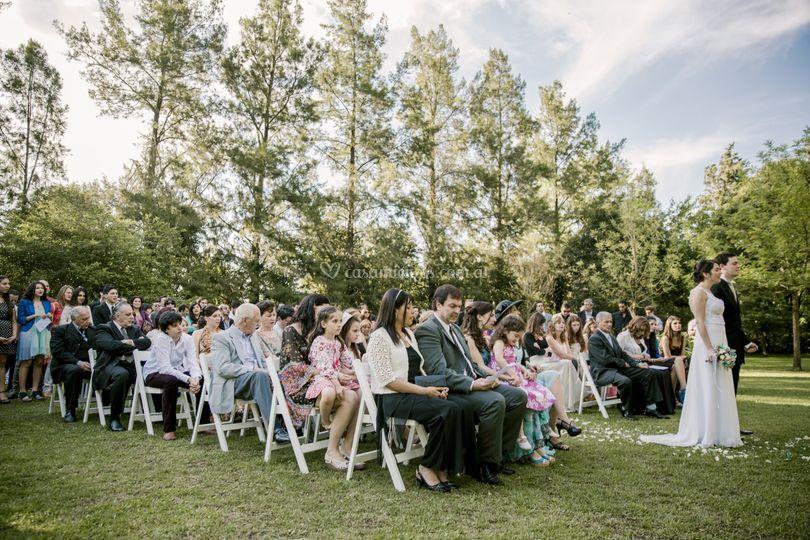 Ceremonia en el parque.
