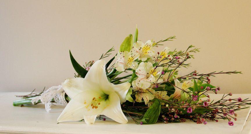 Ramo estilo rústico de El Lenguaje de las Flores