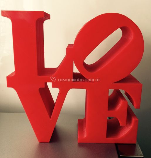 Centro de mesa - love