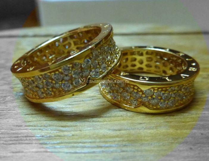 Plata dorada y cubic