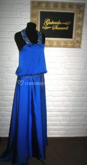Vestido Helenico azul francia