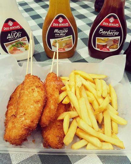 Bastones de pollo