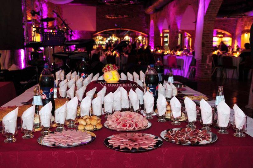 Mesas con buffet