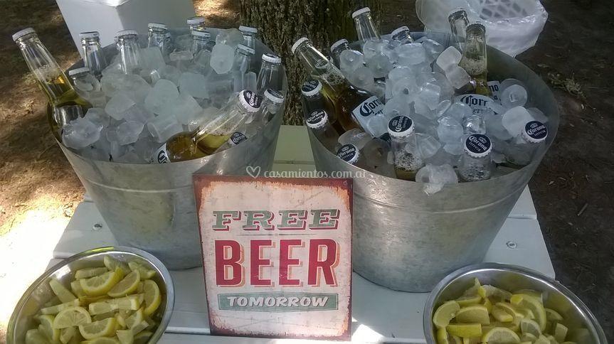 Latones de cerveza.