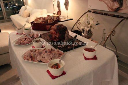 Presentación del menú de Hoy Pata Catering