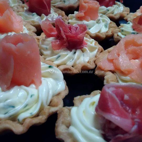 Tarteletas de salmón