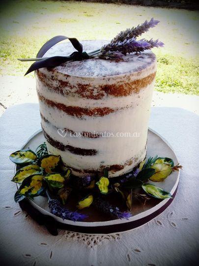 Semi naked cake natural
