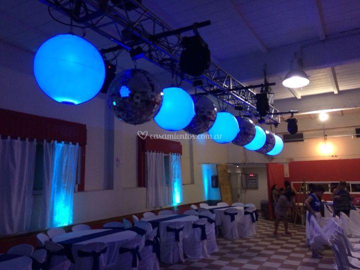 Esferas led y espejadas