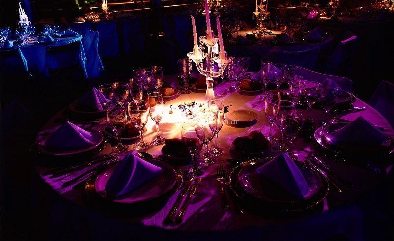 Iluminación puntual de  mesa