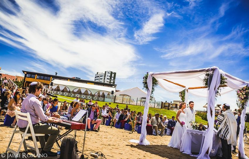 Casamiento playa San Bernardo