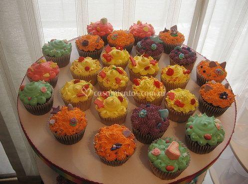 Tabla de cupcakes