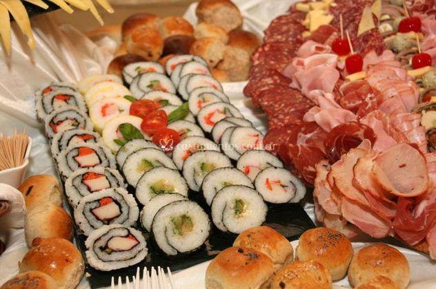 Sushi y fiambre