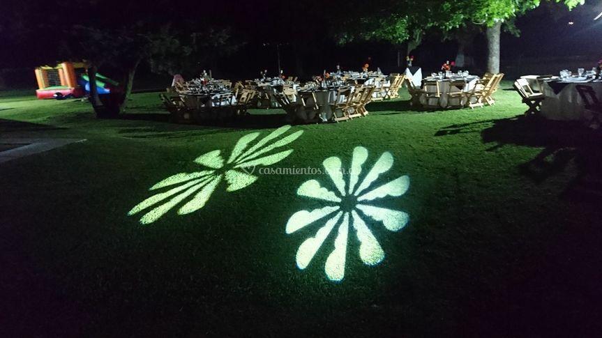 Ambientación de noche al aire
