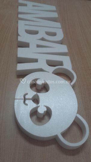 Cartel polyfan 2cm espesor