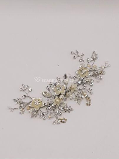 Rama y flor plata