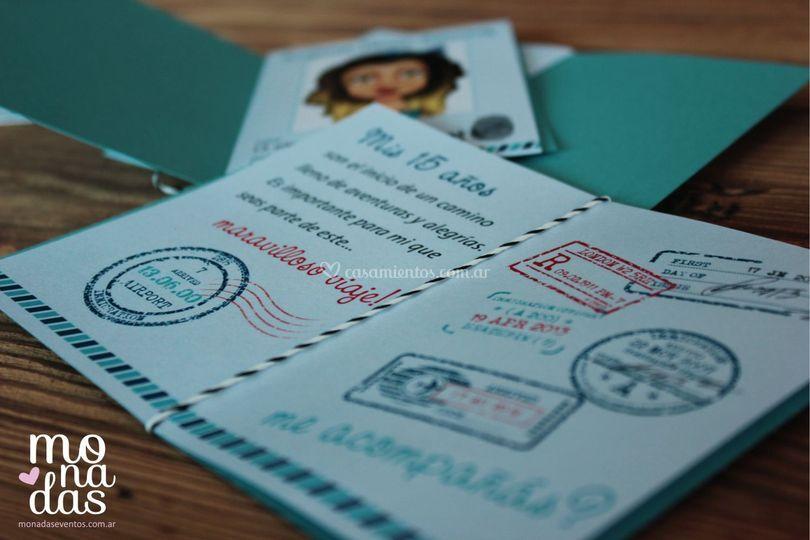 Invitaciones pasaporte