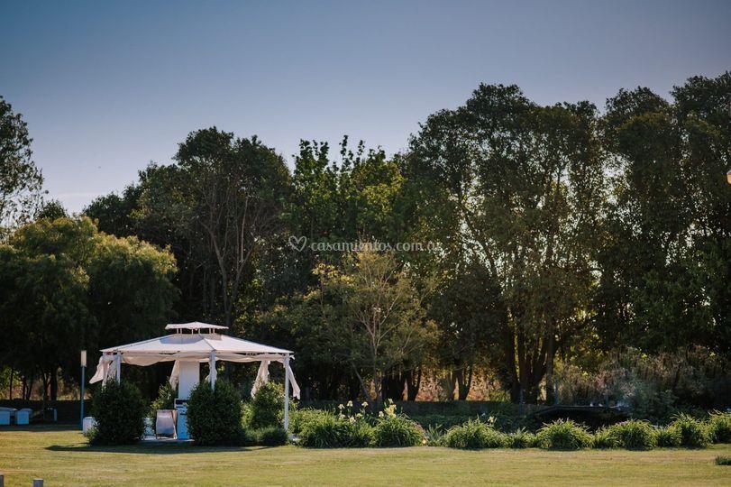 Glorieta y parque