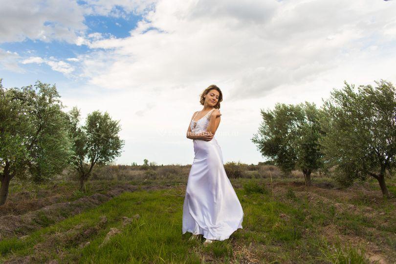 Vestido nupcial blanco puro