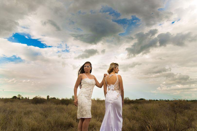 Vestido civil y novia