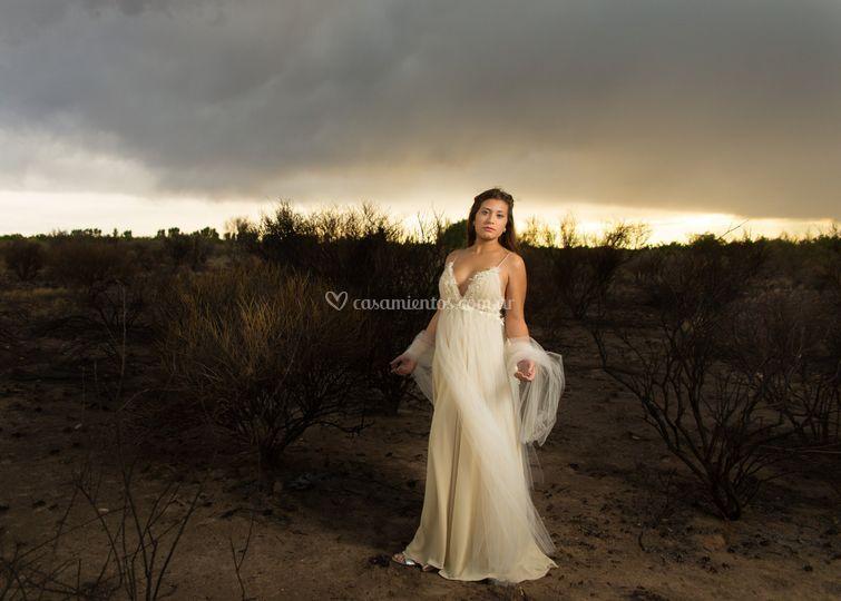 Vestido nupcial romántico