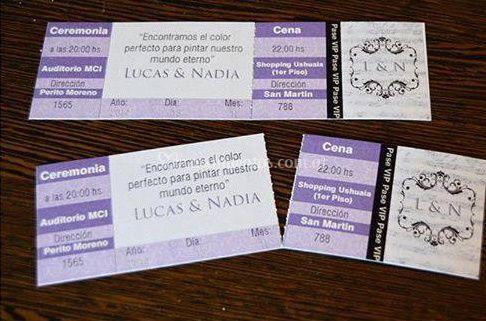 Tarjetas estilo ticket