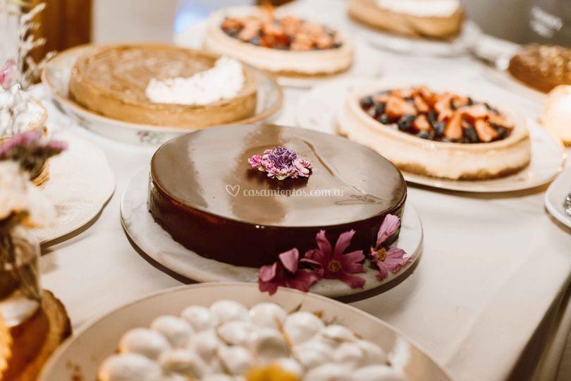 Mesa dulce tortas