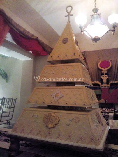 Torta de boda estilo egipcio