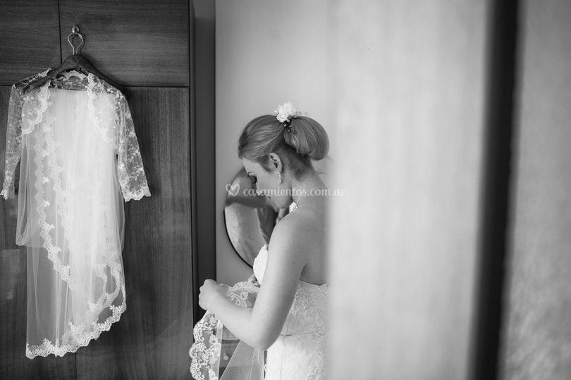 Backstage de la novia