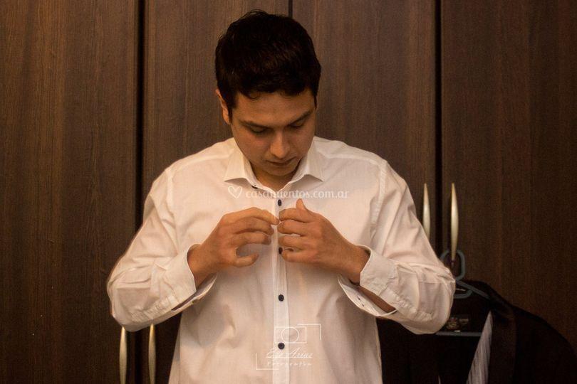 Preparación del novio