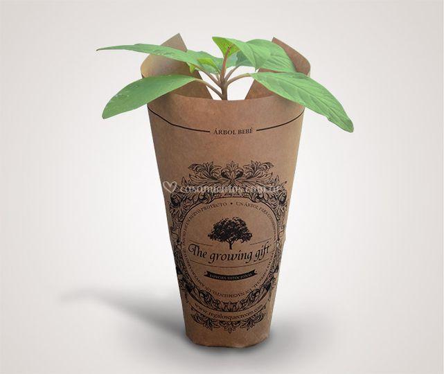 Árbol en papel impreso