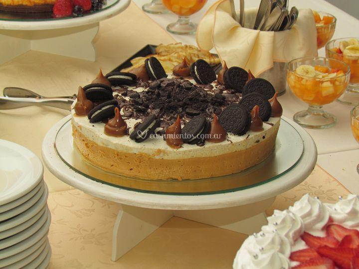 Torta óreo y caramelo