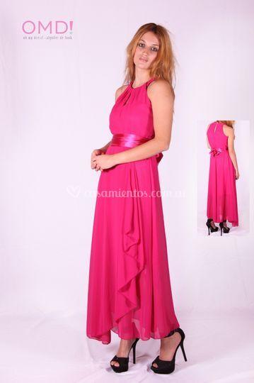 Vestido fiesta Selena Pink