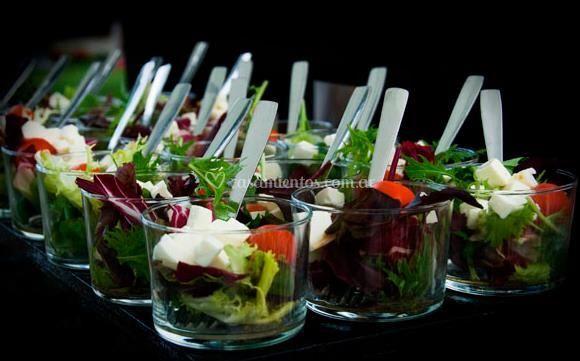 Presentación de ensaladas