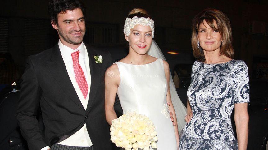 Teresa Calandra y su hijo
