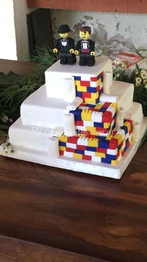 Torta lego de boda