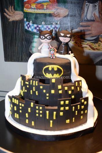 Torta de bodas Batman