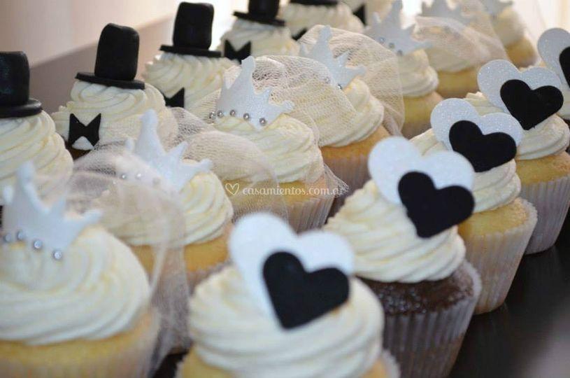 Cupcakes amor, novia y novio