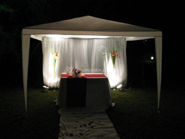 Altar en el parque