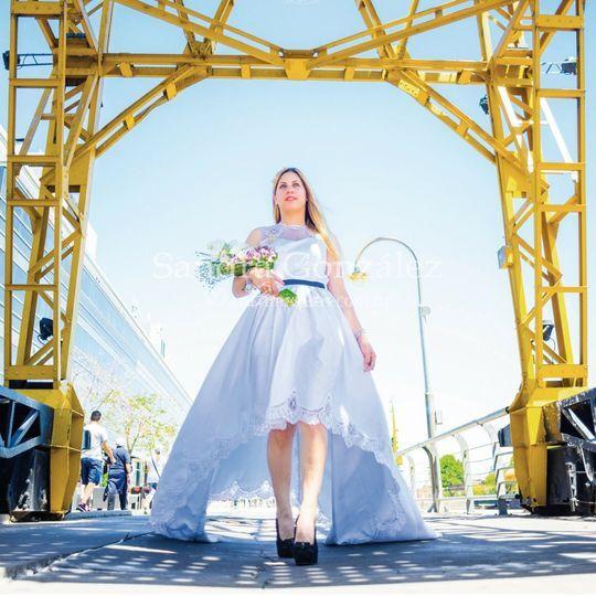Look de novia de Sandra González Diseño Floral