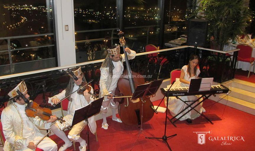 Recepción con orquesta en vivo