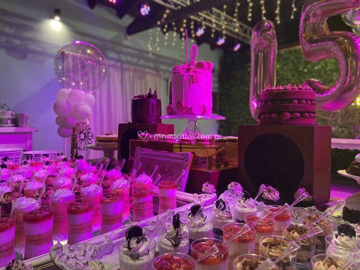 Mesa dulce quinceaños